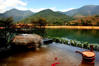 stone village, in zhejiang, lake