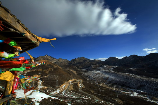 sichuan buddhist retreat in a temple, to the most sacred mountain