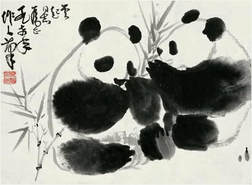 Chinese painting retreat at zhejiang, countryside