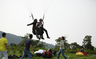 paragliding, shanghai, countryside, local, exploration